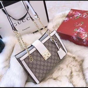 Lock white purse